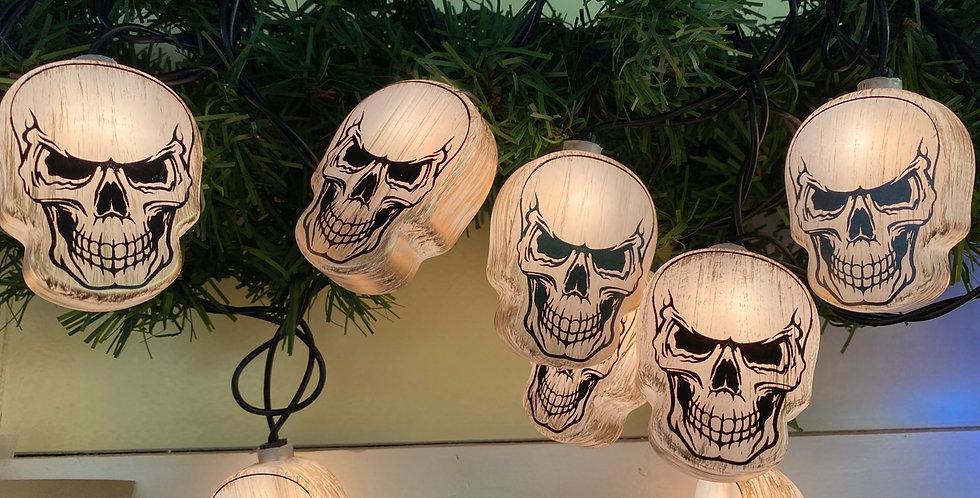 Skull light set of 10