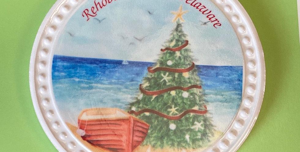 Beachy tree w boat
