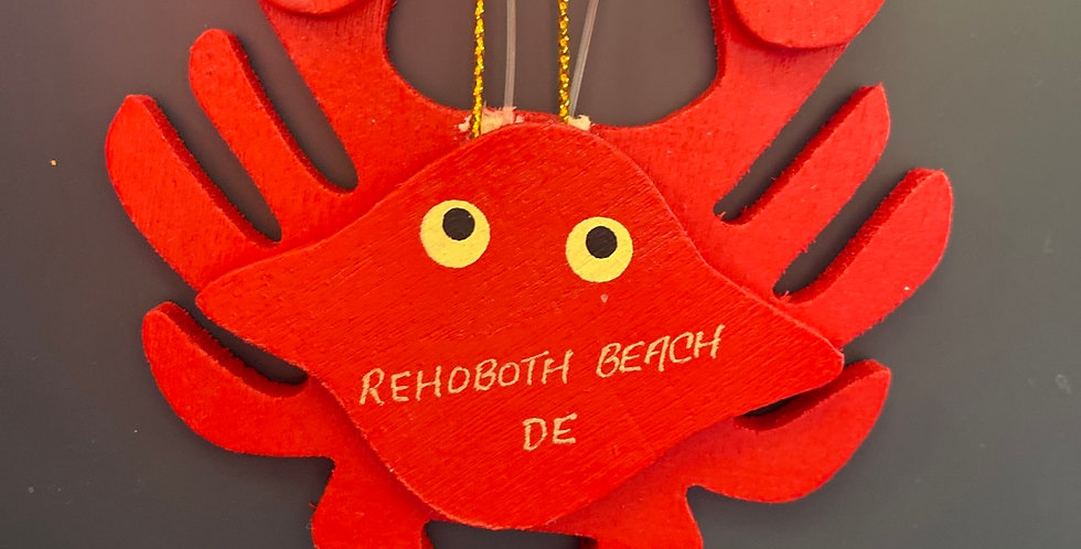 Red wooden crab