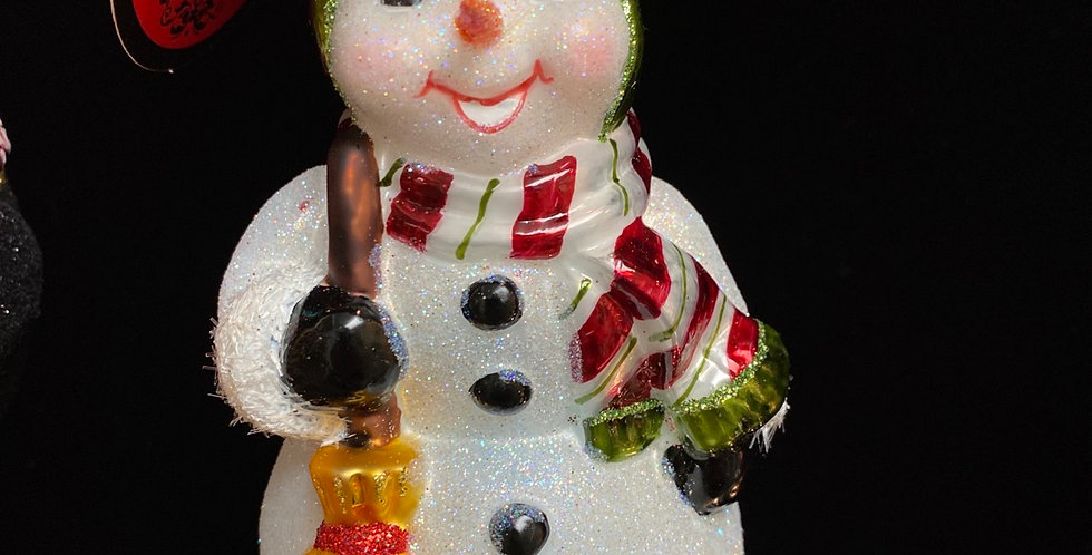 Happy in Holly Snowman