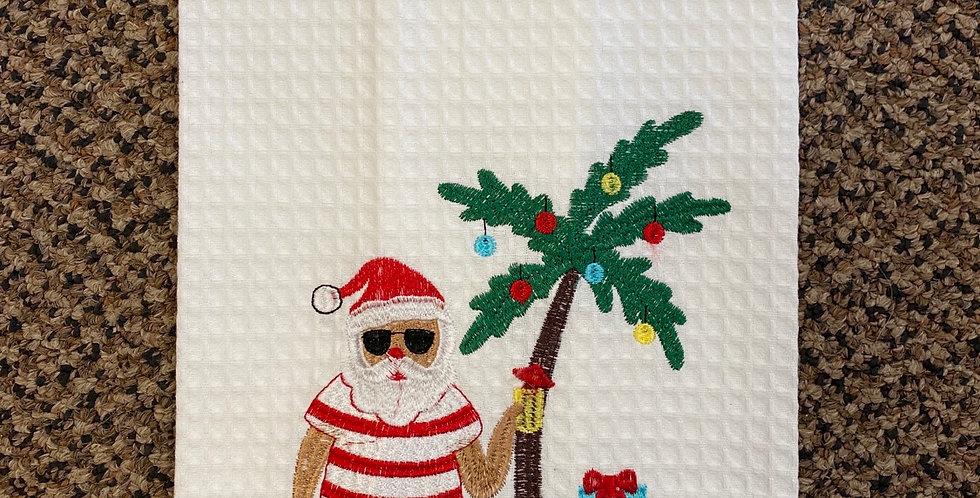 Santa and palmtree