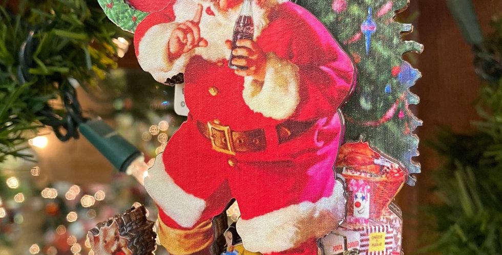 Coca Cola Santa with Tree