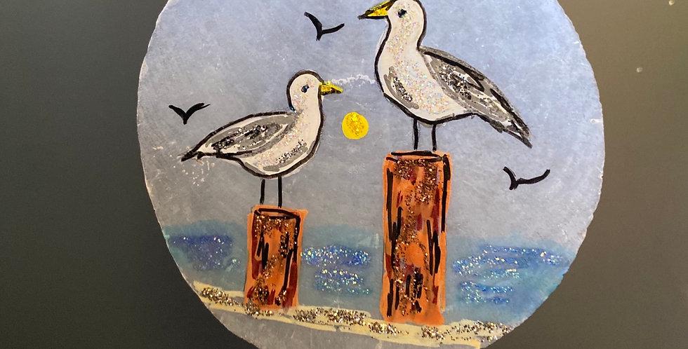 Capiz shell w Seagulls