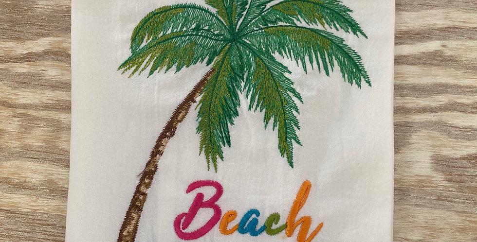Beach Happy Tea Towel