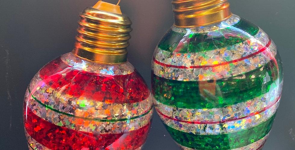 Light bulb ornament 2asst