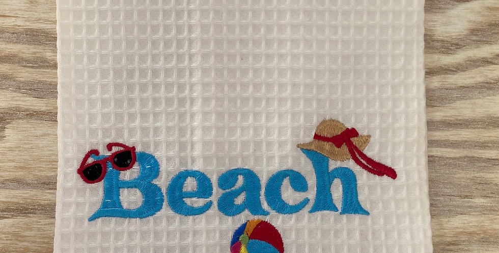 Beach Bum tea towel
