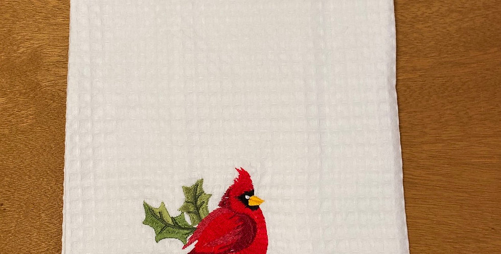 Cardinal flour sack tea towel