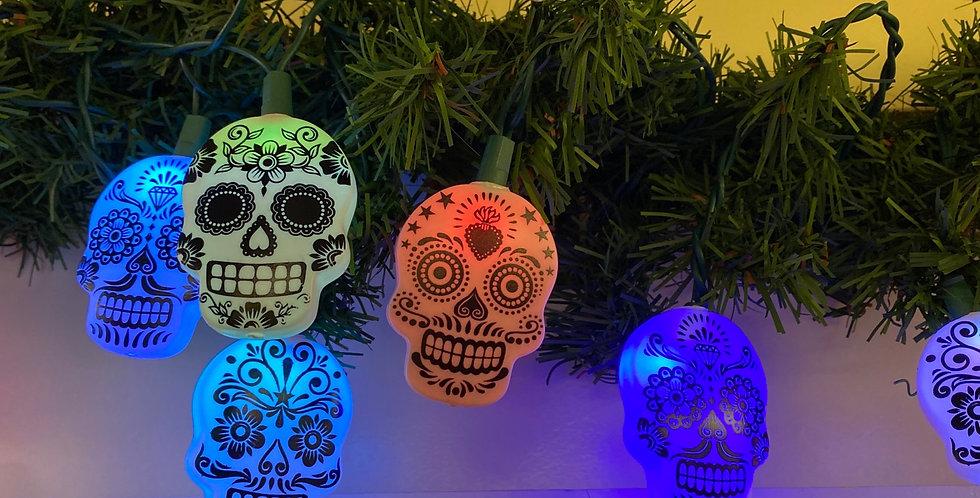Sugar Skull light set of 10