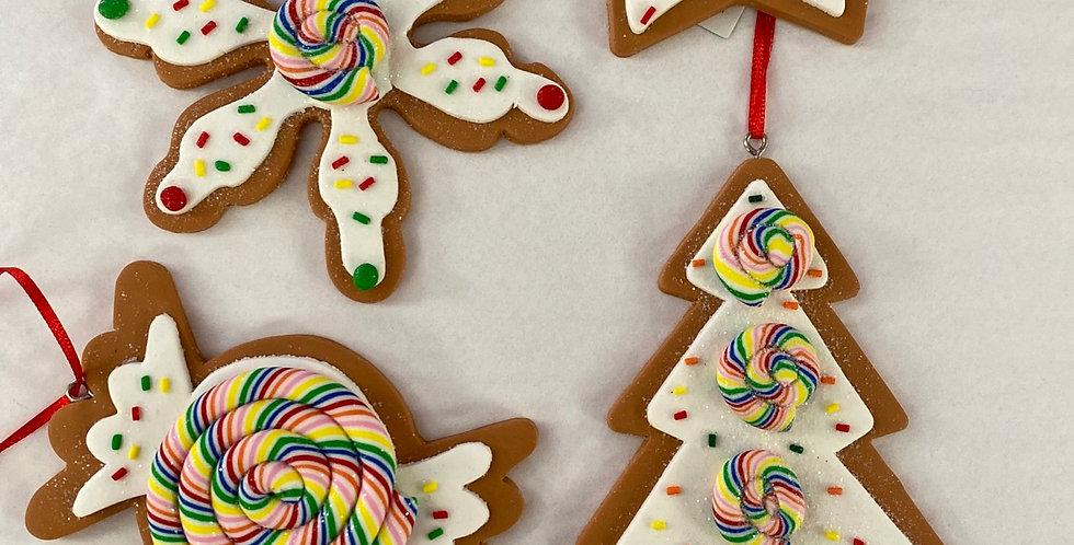 4 asst Gingerbread shapes