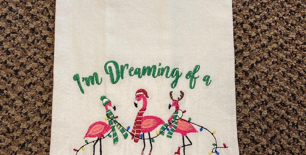 Pink Christmas Flamingos