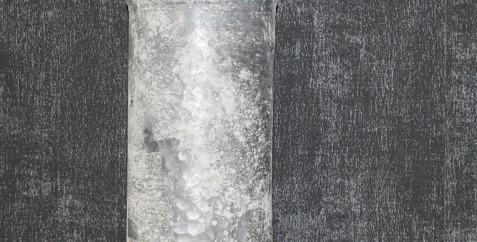 Vase Metall Grau/Grün Marit mit Henkel