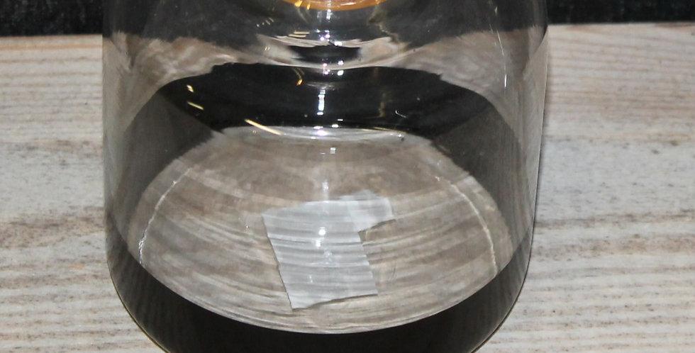Vase Klarglas mit Schwarzen Rand