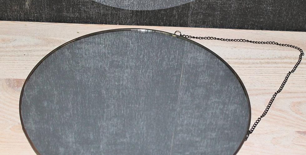 Spiegel schwarz mit Kette