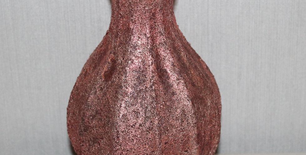 Blütenvase Glas Beschichtet Rosa Bauchig
