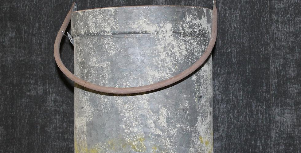 Topf Metall Grau/Grün Marit mit Henkel