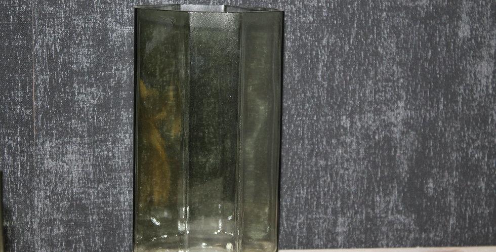 Glas Rhombe gerade Achteck Grün