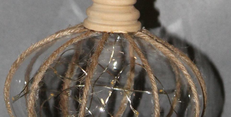 LED Lampe Elipse mit Juteseil