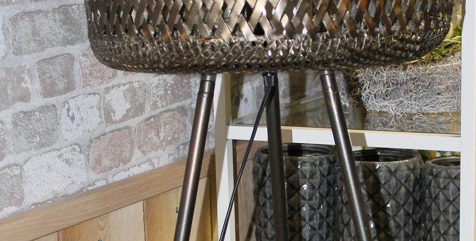 Lampe Industrie Look Braun Rund