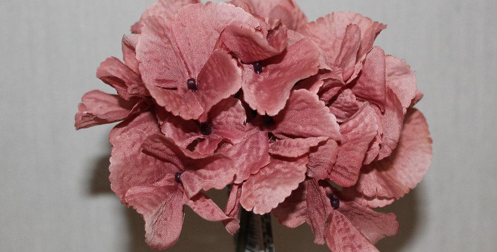 Seidenblume Hortensie Altrosa