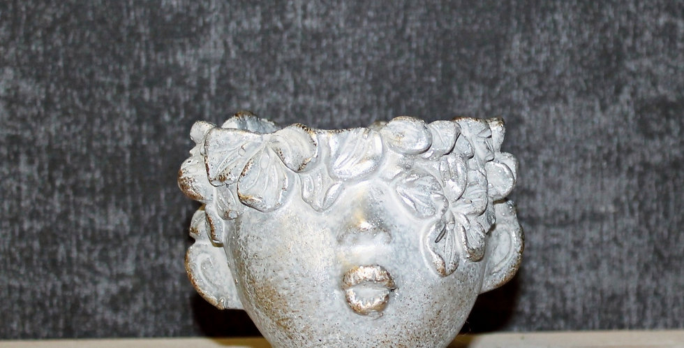 Topf Blütenkopf Silber