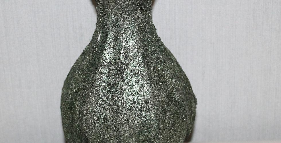 Blütenvase Glas Beschichtet Grün Bauchig