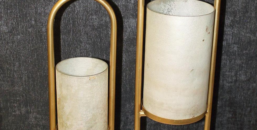 Windlicht Perlmutglas Marmorfus