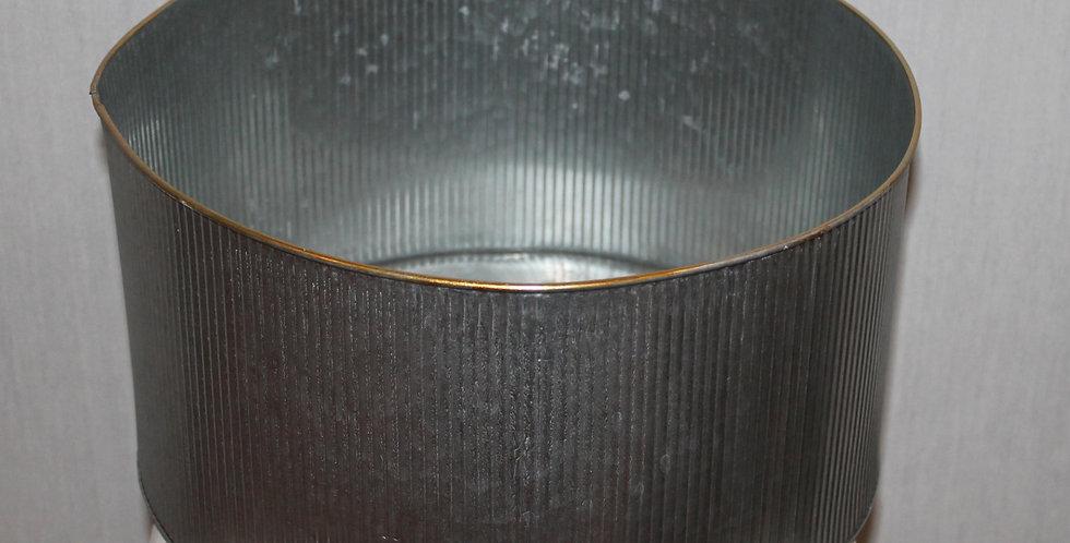 Schale Metall Silber mit Goldrand