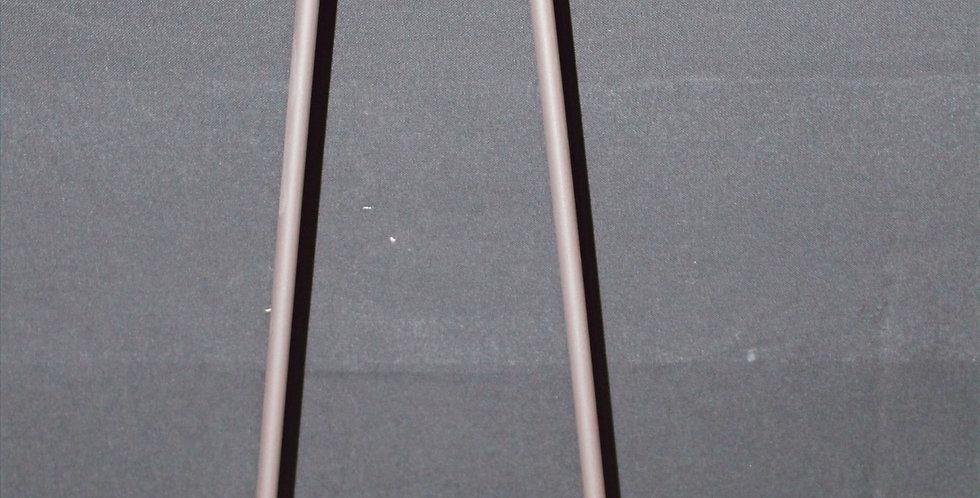 Metallständer mit Glas Schwarz