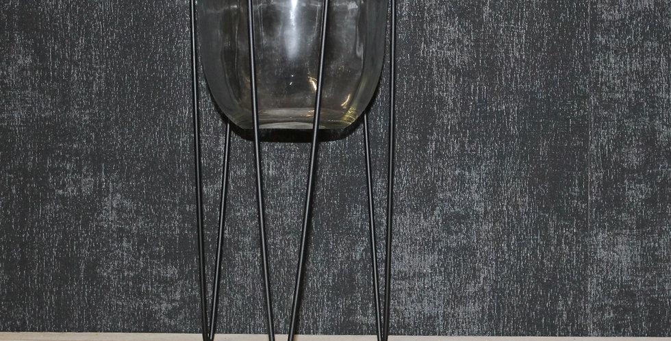 Pflanzglas Auf Füßen Schwarz