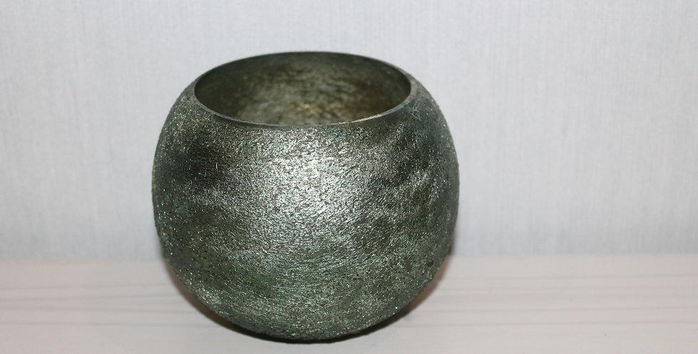 Teelicht Beschichtet Grün Bauchig