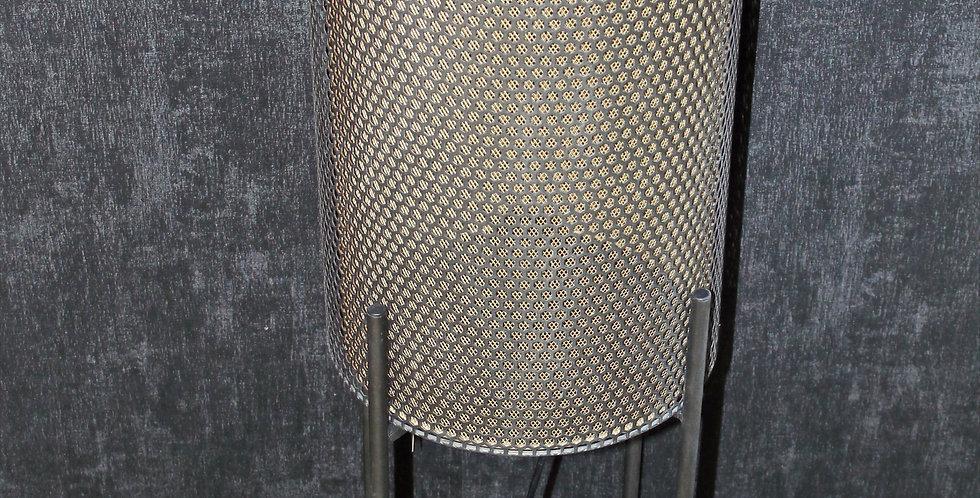Lampe Metallröhre mit Gold auf Füße