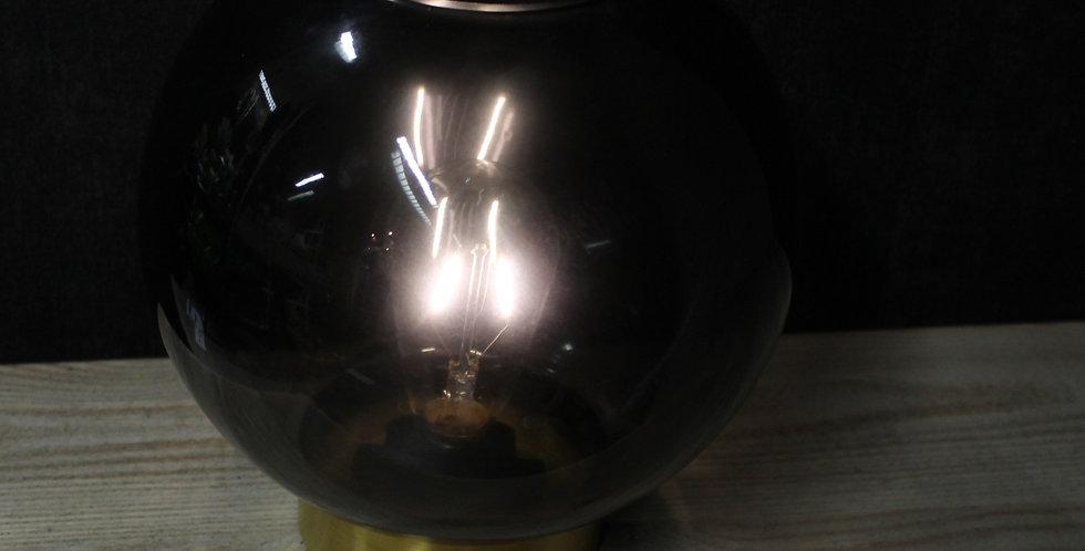 LED Glas Kugel Lampe  schwarz