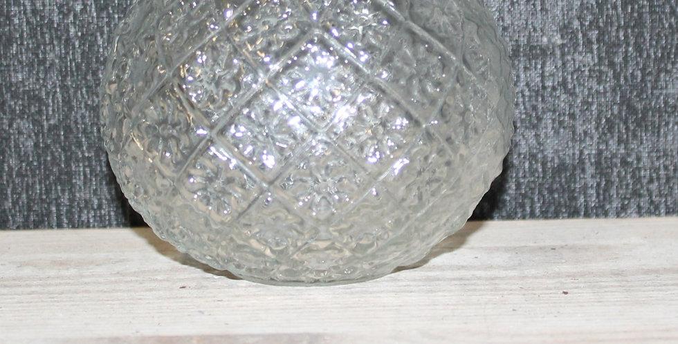 Glasvase Bauchig Blütenmuster Klar