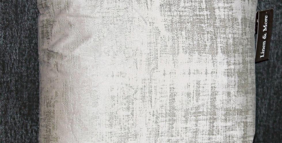 kissen Perlmutglanz Grau