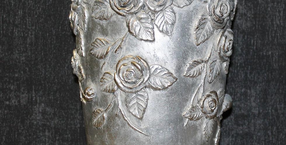 Vase Rosenmotiv Stein