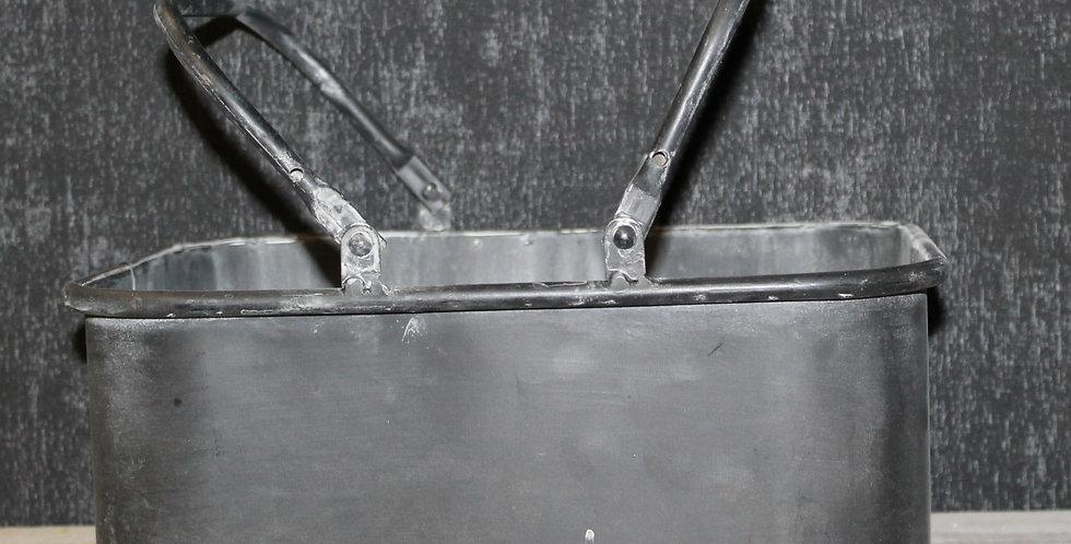 Kiste Metall Schwarz mit Henkel
