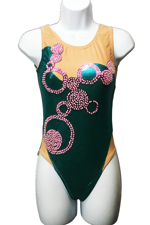 Teal and Pink Sequin Bubble Costume