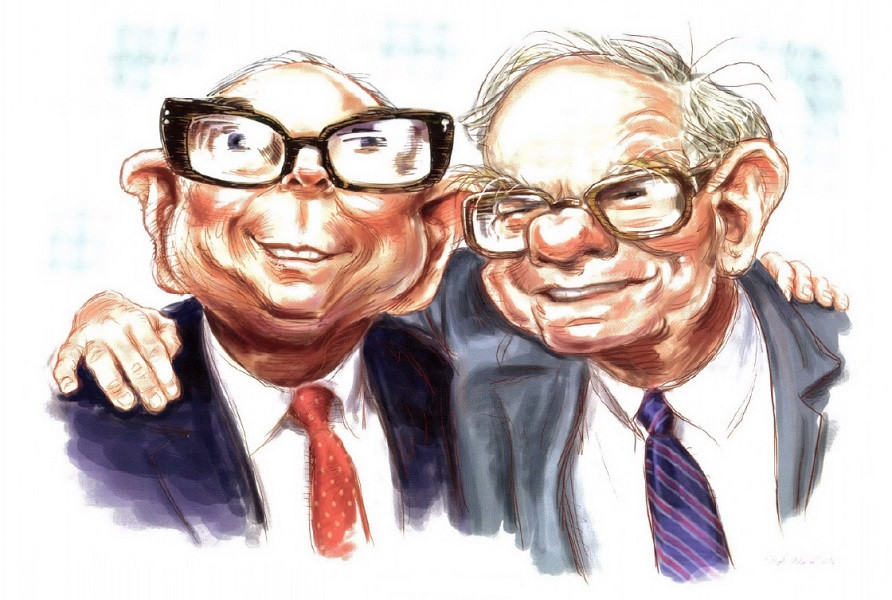 Legend Warren Buffett with Co-Pilot Charlie Munger