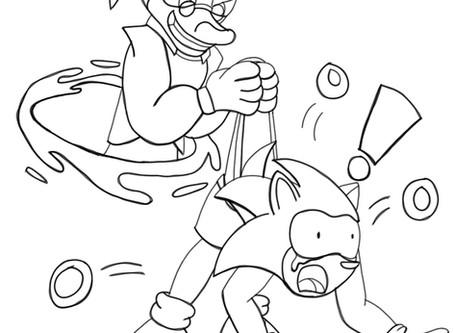 (Sonic Fanart) Warp Wedgie (Lineart)
