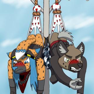 """Hanging Out"" with Haida (Aggretsuko Fanart)"