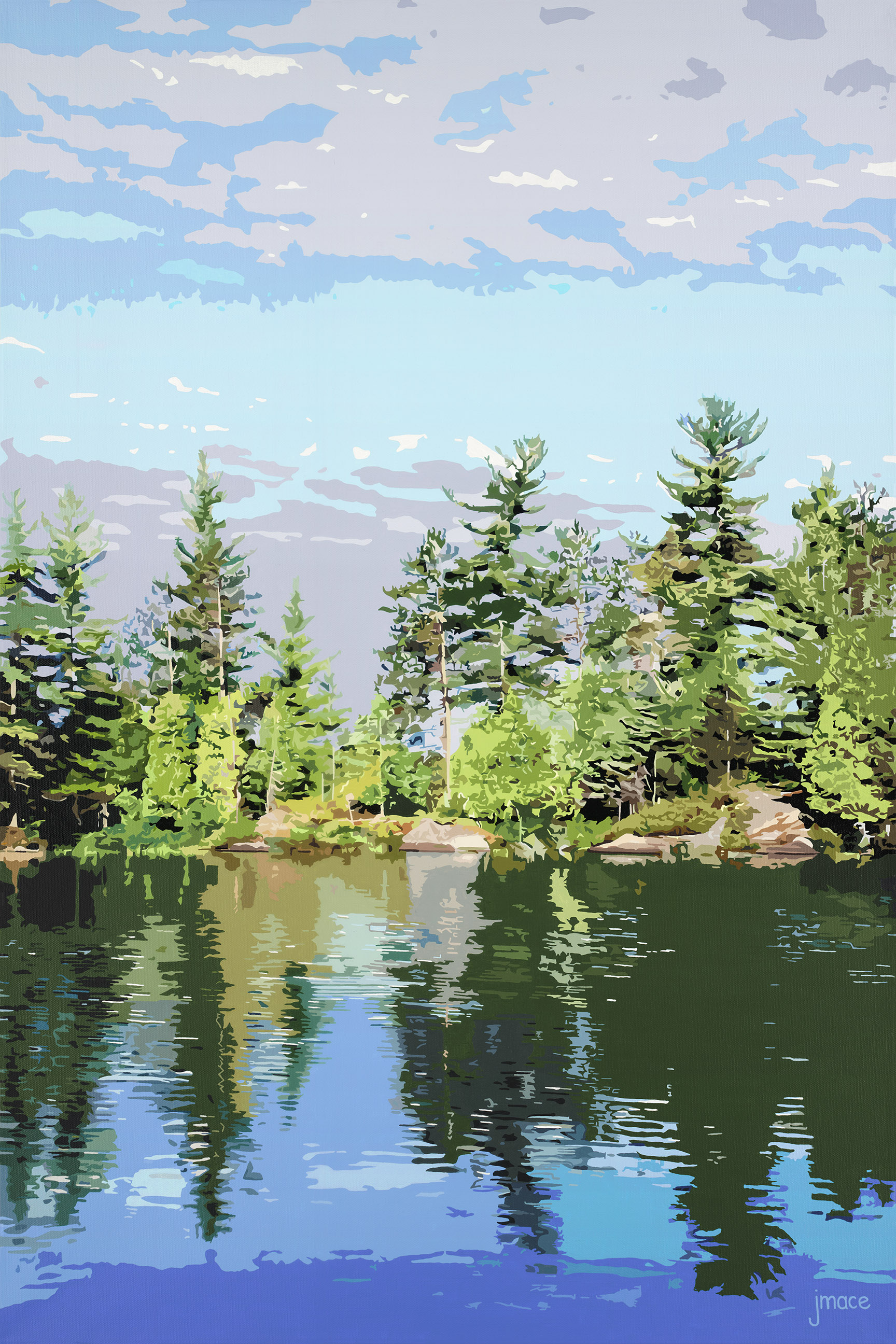 Reflections on Spence Lake (2019)
