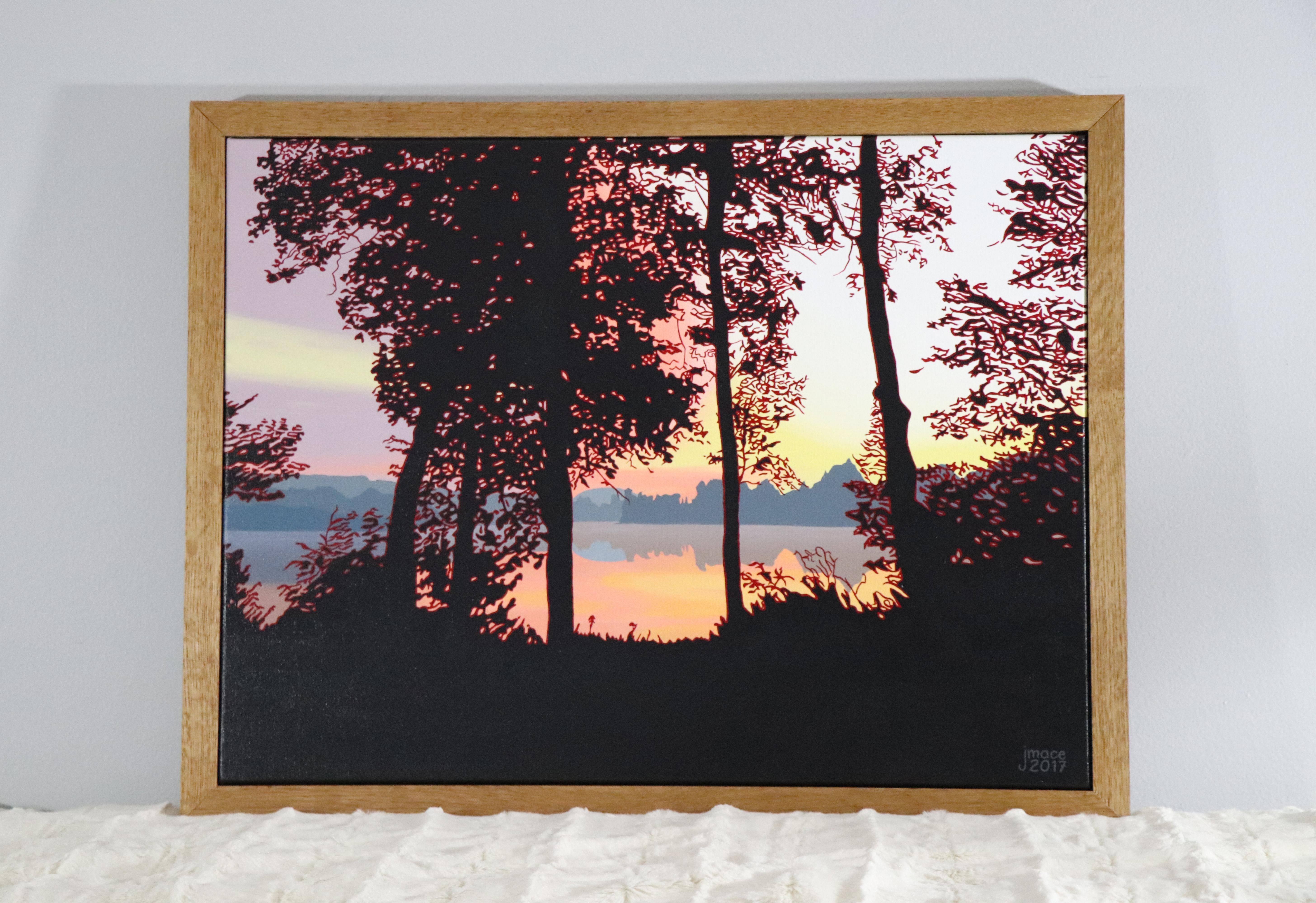 Sunset on Lake Kashagawigamog (2017)