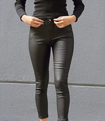 Leather Look Jean