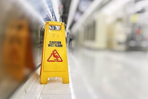 Beware the wet floor While authorities are clean