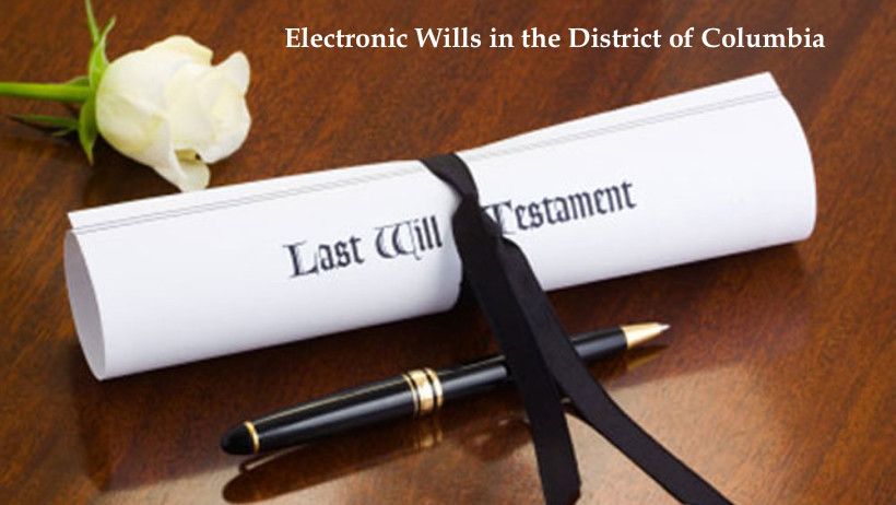 ALERT: Electronic Wills in DC
