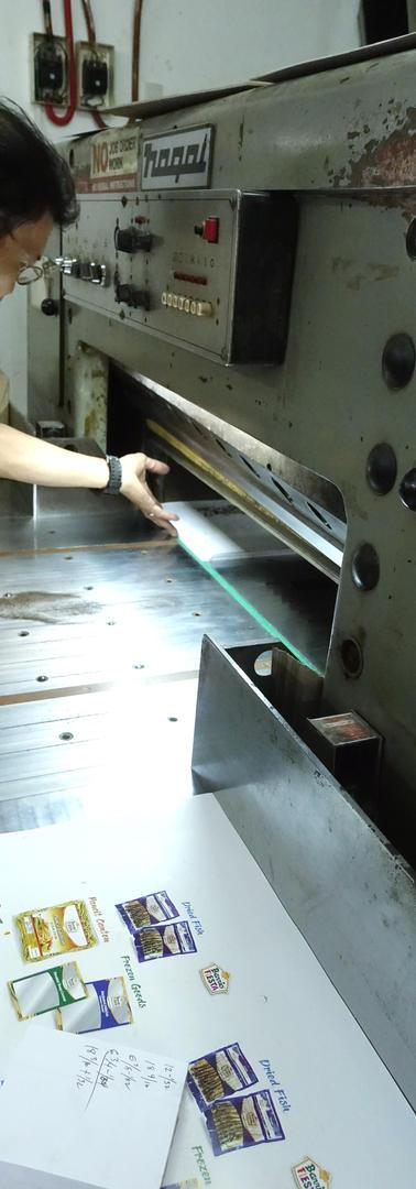 Actual printing process