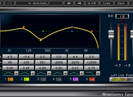 2 types of filters on the Waves Renaissance EQ and how to use it