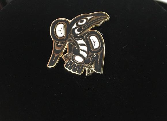 Raven Enamel Pin
