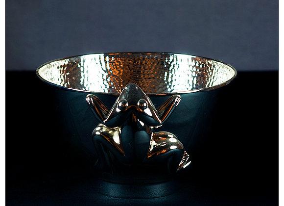 Frog Silver Bowl