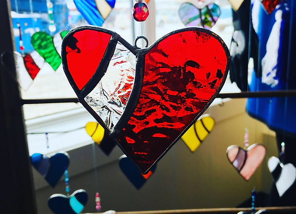 Heart Stained Glass Hanger